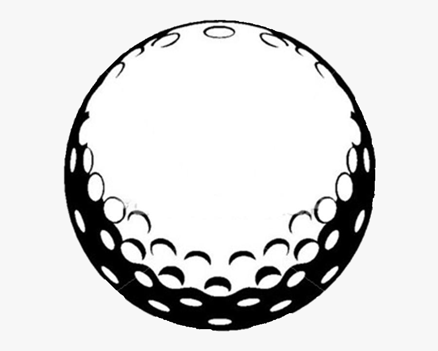 Golf Ball Black And White, Transparent Clipart