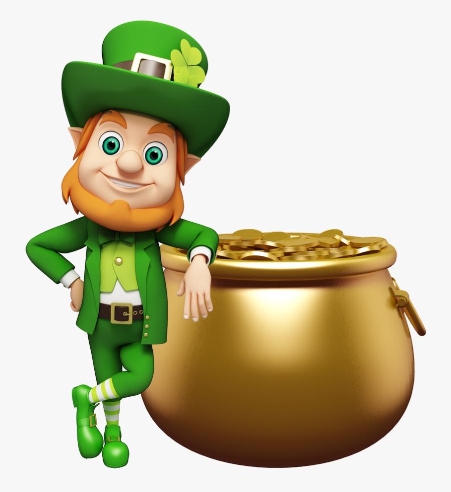 "- Leprechaun Happy St Patrick""s Day , Transparent Cartoons - St Patricks Day Leprechaun, Transparent Clipart"