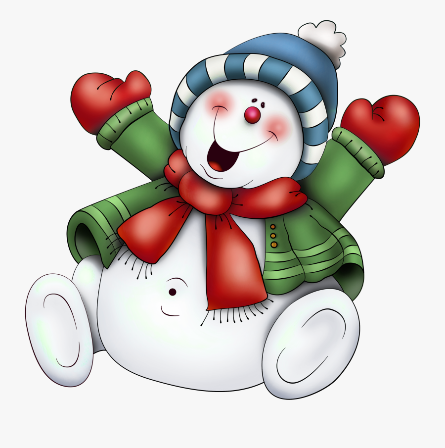 Clipart Christmas Snowman, Transparent Clipart