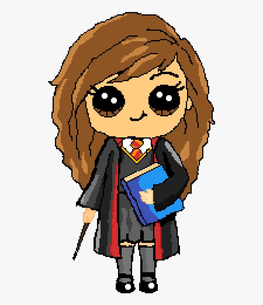 Hermione Granger Harry Potter Cute Kawaii Drawings - Cartoon Harry Potter Drawing, Transparent Clipart