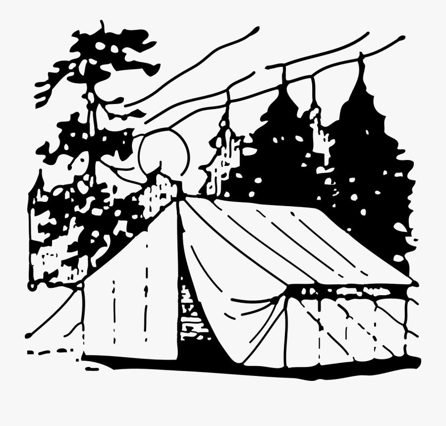 Art,monochrome Photography,artwork - Camping Clip Art, Transparent Clipart