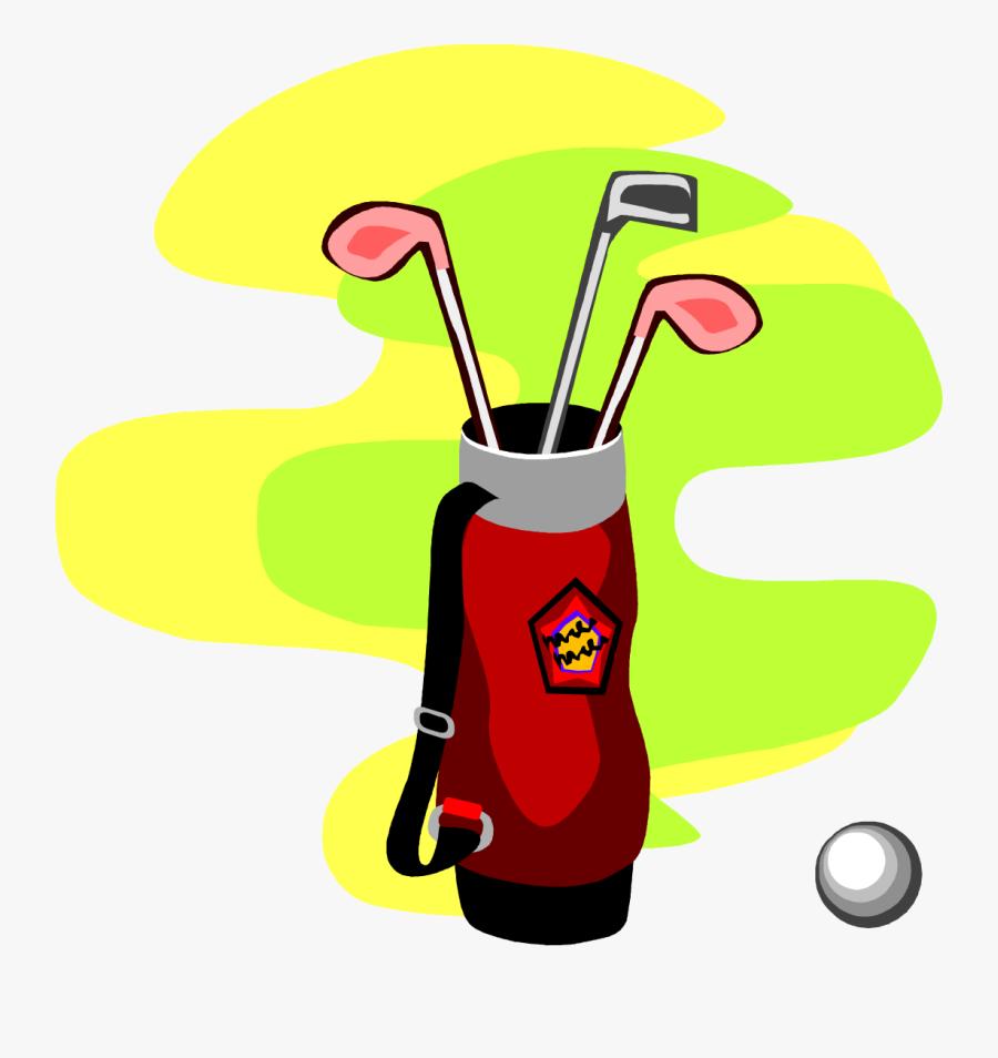 - Golf Bag Clip Art - Cartoon Image Golf Bag With Clubs, Transparent Clipart