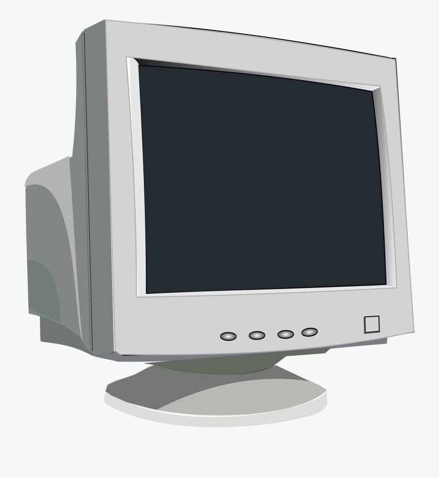 Monitor Clip Art At - Computer Monitor Clipart Black And White, Transparent Clipart