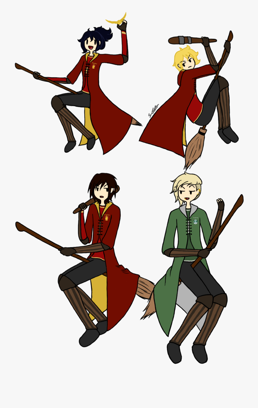 Adventure Quidditch By Ciaxlia - Harry Potter Quidditch Character, Transparent Clipart