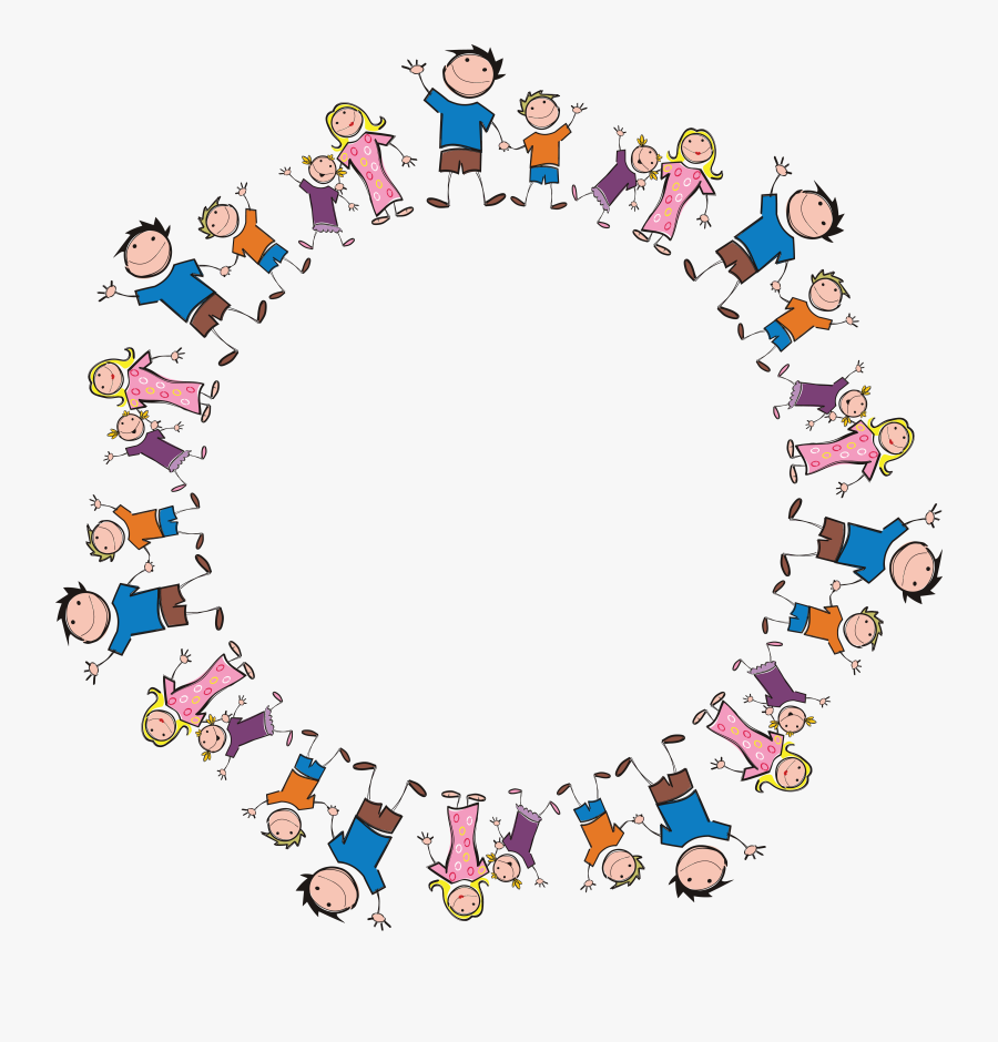 Clipart - Family In Circle Png, Transparent Clipart
