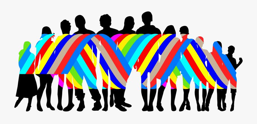 Transparent Diversity Png - Silhouette People Cartoon Png, Transparent Clipart