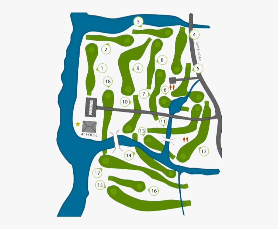 Cape Arundel Golf Map, Transparent Clipart
