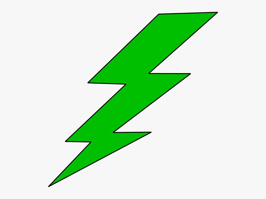 Lightning Bolt Green Lighting Bolt Clip Art At Vector - Lightning Bolt Clipart, Transparent Clipart