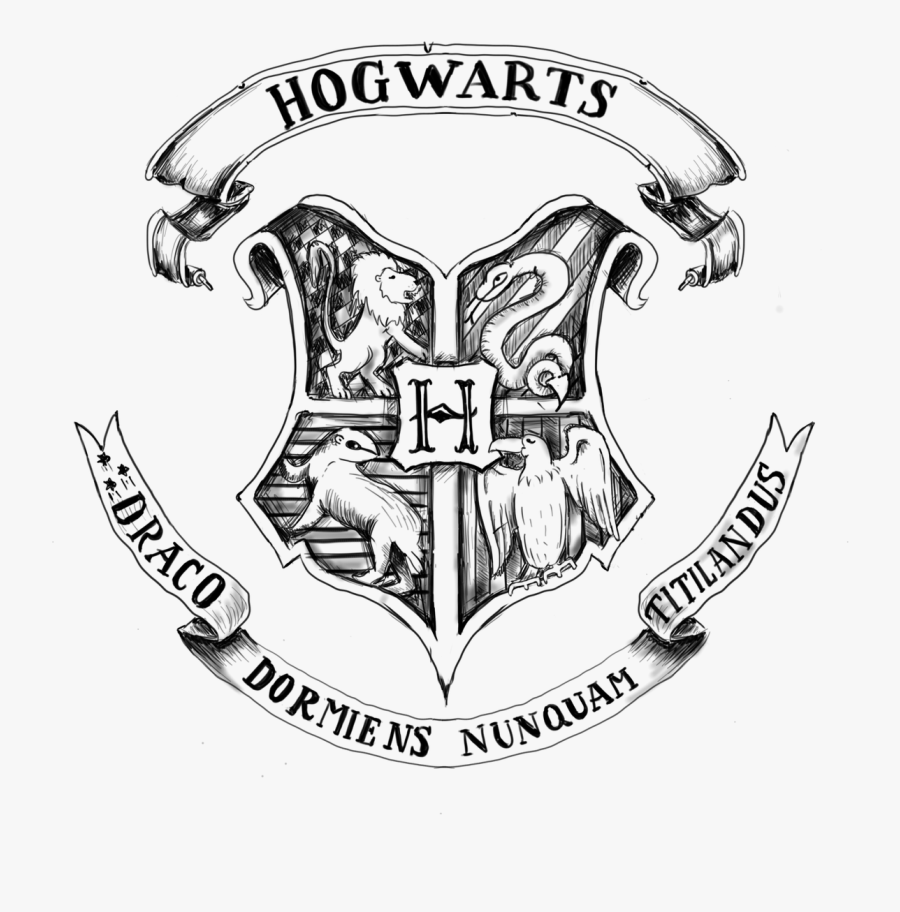 Clipart Shield Harry Potter - Png Transparent Hogwarts Logo, Transparent Clipart