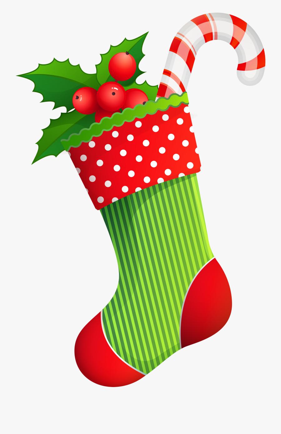 Clipart Free Christmas - Meia De Natal Png, Transparent Clipart