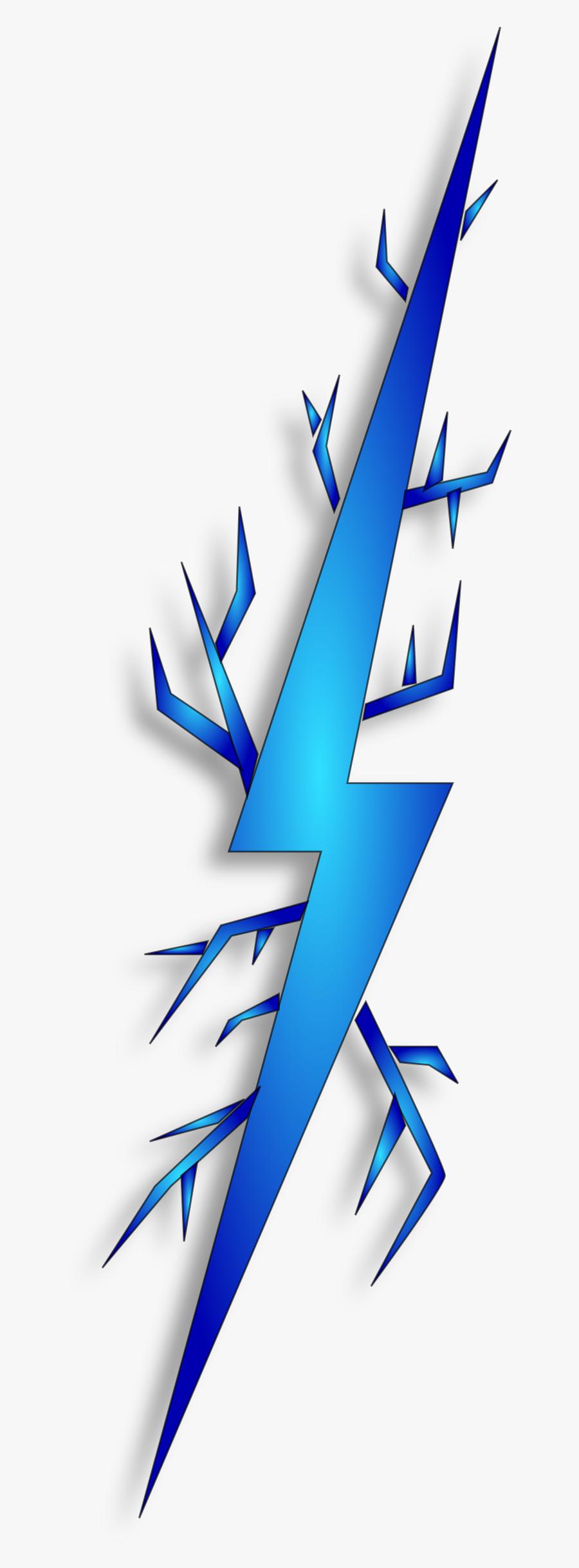 Electricity Clipart Lightning - Transparent Blue Lightning Bolt, Transparent Clipart