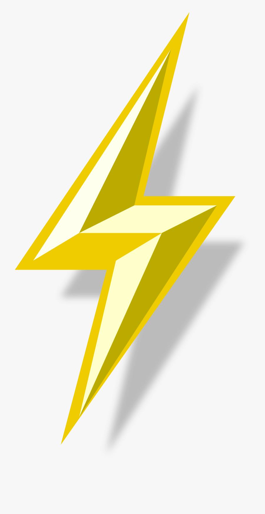 Clip Art Image Of Lightning Bolt - Transparent Lightning Bolt Vector, Transparent Clipart
