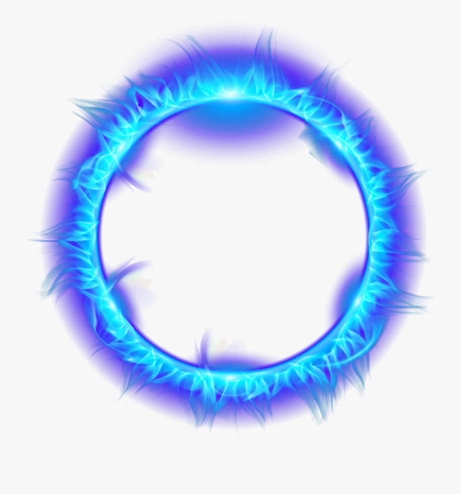 Blue Burning Fire Light Flame Of Ring Clipart - Blue Fire Flame Transparent, Transparent Clipart