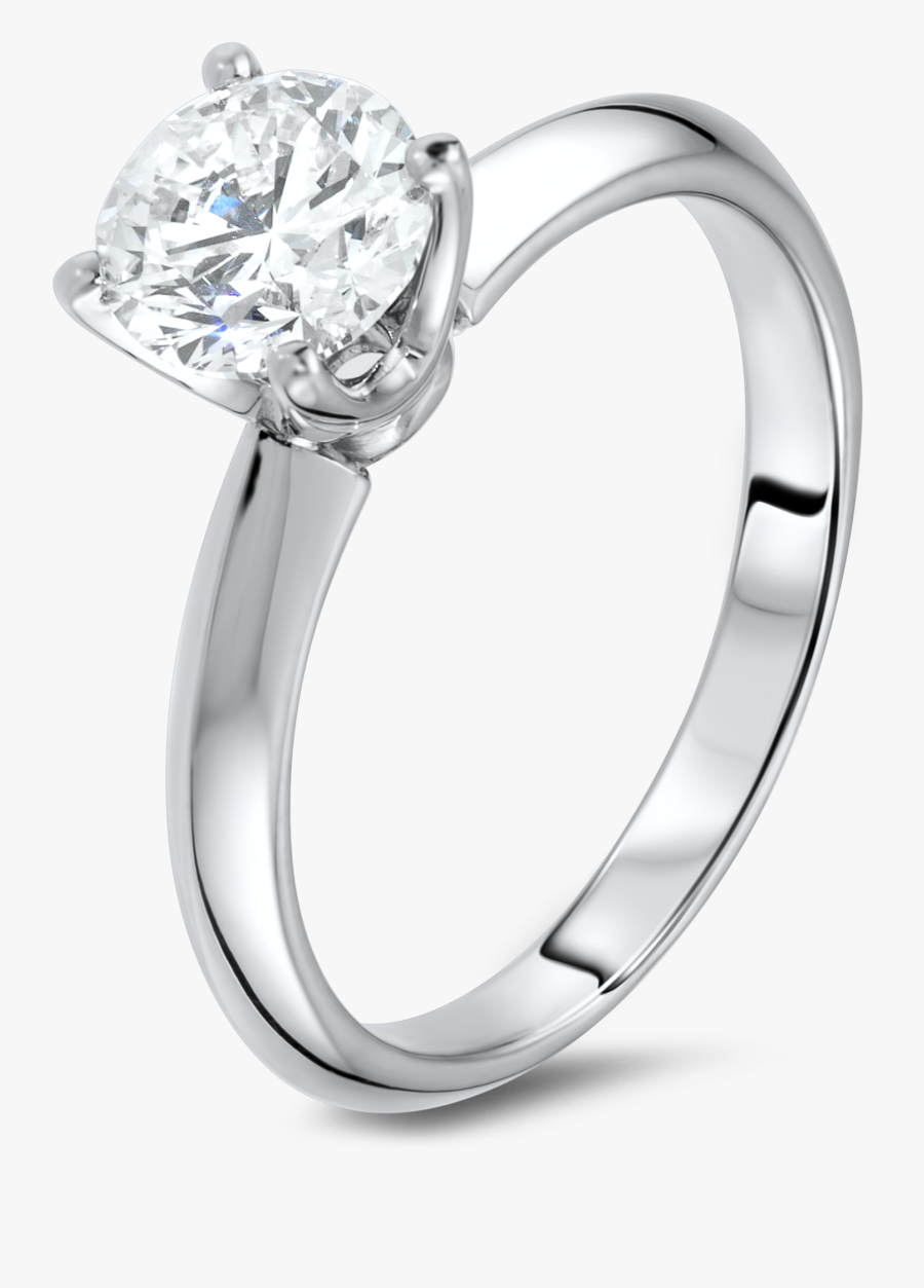 Drawn Diamond Engagement Ring - Silver Engagement Ring Png, Transparent Clipart