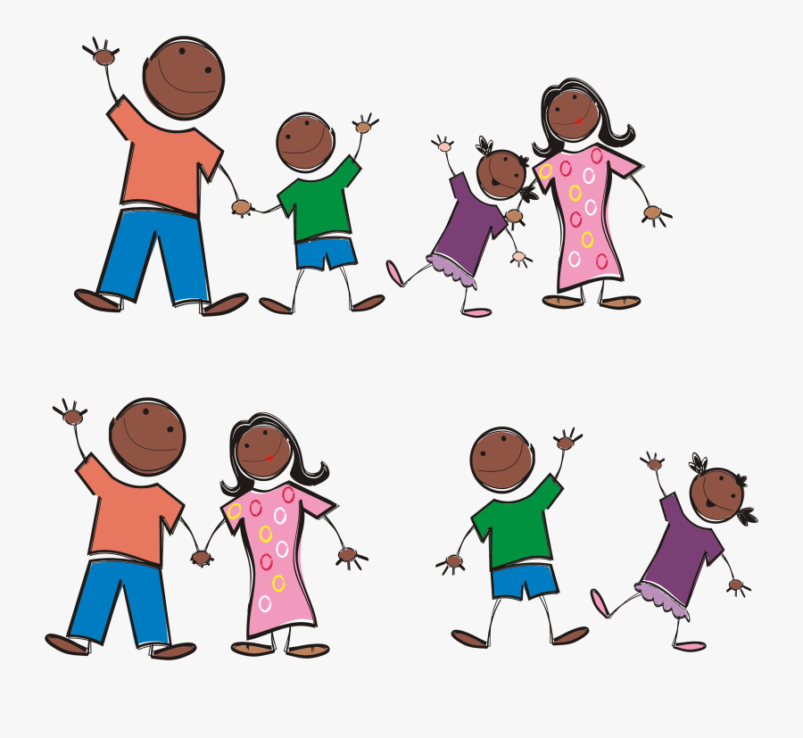 Stick Figure Drawing Clip Art - Stick Figure African American, Transparent Clipart
