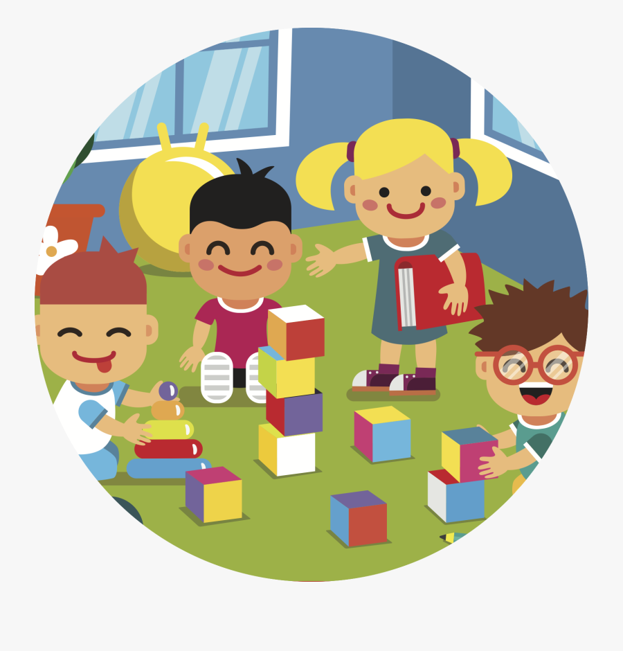 Transparent Preschool Clipart - Playing Together Clip Art, Transparent Clipart