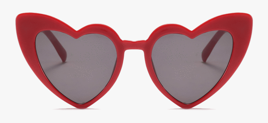 Heart Glasses Clipart - Heart Cat Eye Sunglasses Png, Transparent Clipart