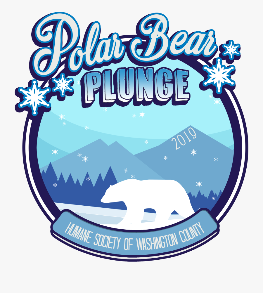 Of Washington County Invites You To Celebrate The Winter - Polar Bear Plunge, Transparent Clipart