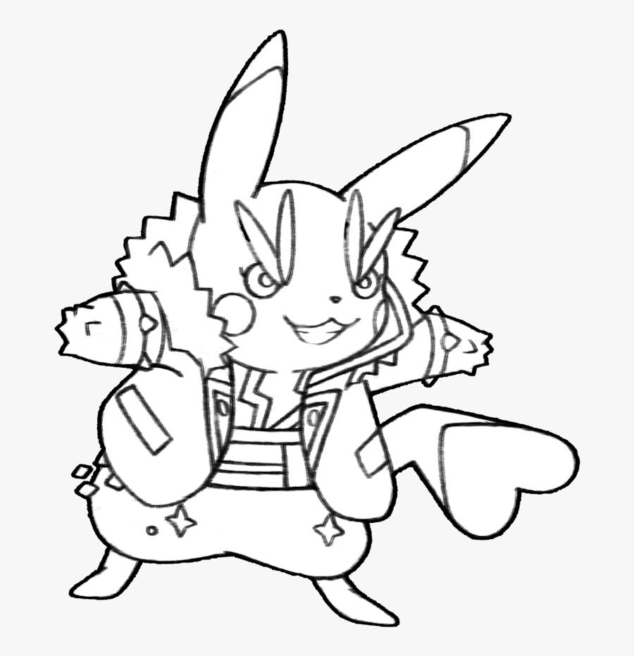 Clip Art Star Clipart Techflourish Collections - Pikachu Rockstar Coloring Pages, Transparent Clipart