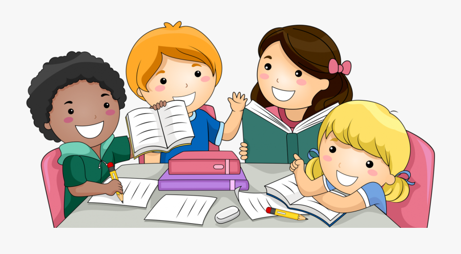 Library Png For Kids - Students Studying Clipart, Transparent Clipart