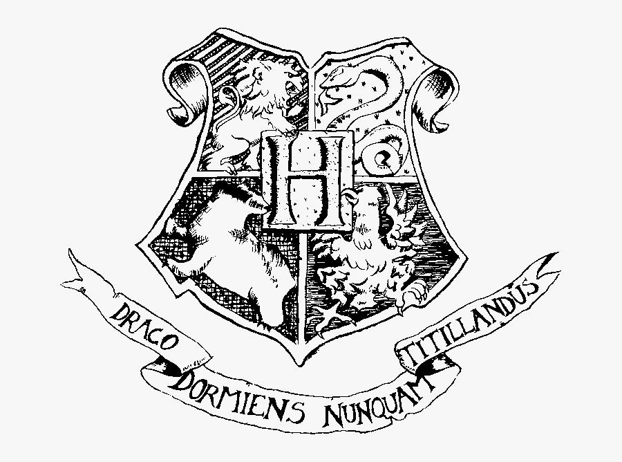 Hogwarts Houses Black And White, Transparent Clipart