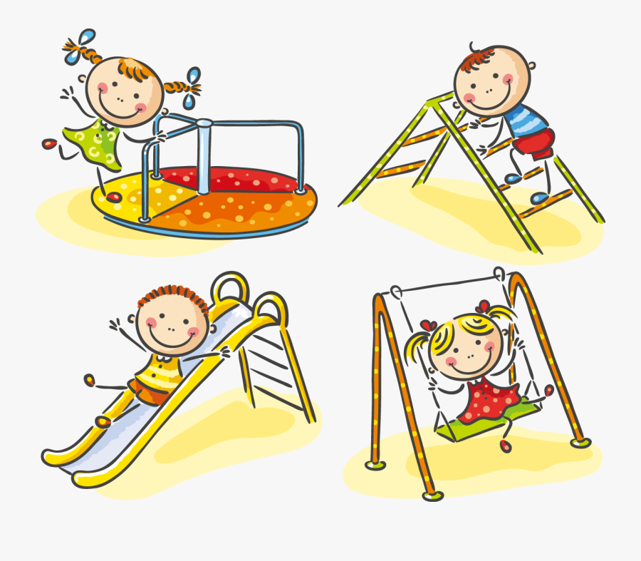 Transparent Children Playing Png - Children Playing In The Playground, Transparent Clipart
