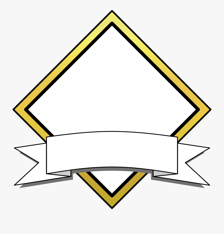 Banner Clipart Hostted - Diamond Banner Clipart, Transparent Clipart