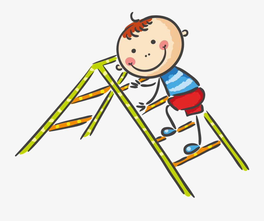 Playground Clipart Ladder - Children Playing In The Playground, Transparent Clipart