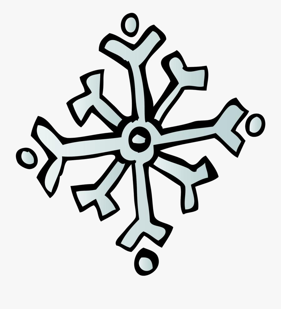 Lg Snowflake Sw %28c%29 Melonheadz 13 Colored - Melonheadz Winter Clipart, Transparent Clipart
