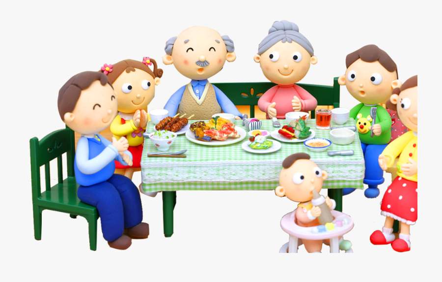 Eat Dinner With Family Clipart - Eating Family Cartoon Png ...