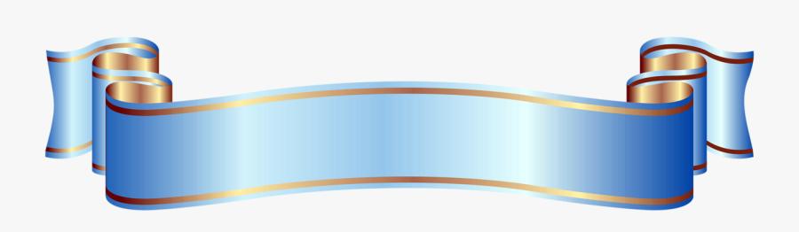 Large Blue Banner Clipart - Blue Banner Png, Transparent Clipart