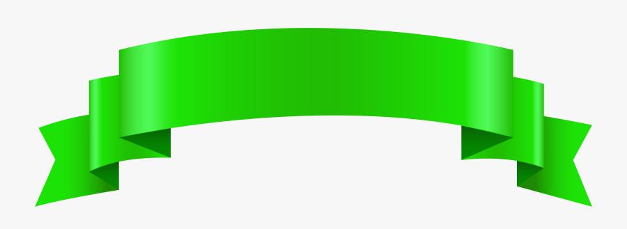 Transparent Green Crayon Clipart - Green Banner Clipart Transparent Background, Transparent Clipart