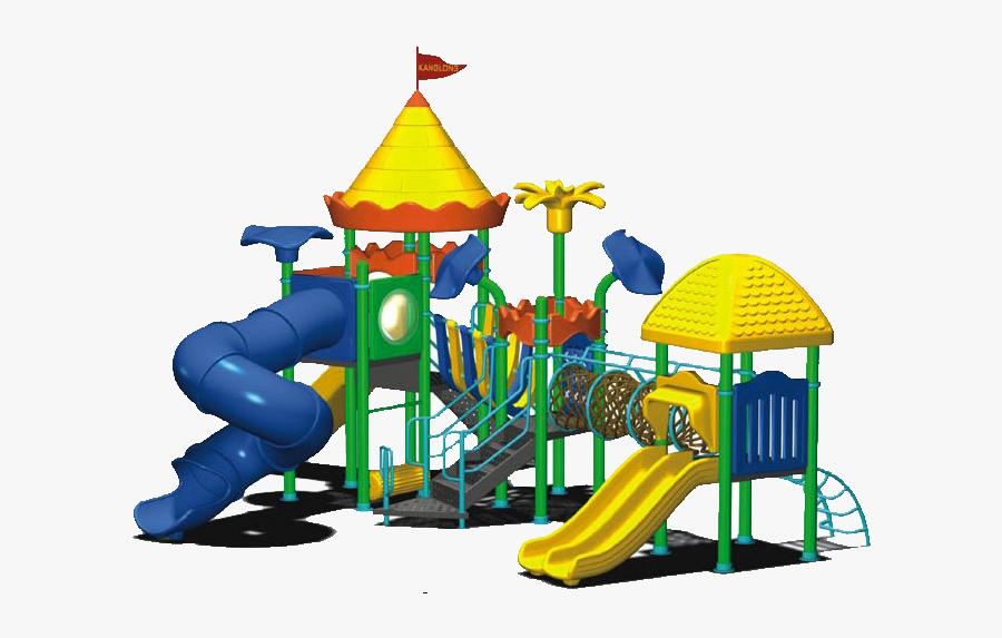 Transparent Swing Set Png - Cartoon Playground, Transparent Clipart