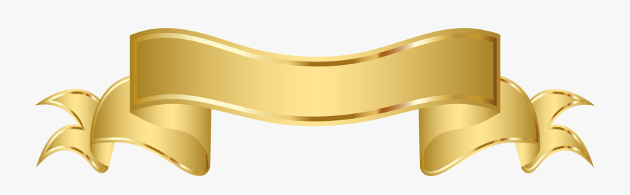 Pennant Clipart Gold - Gold Banner Ribbon Png, Transparent Clipart