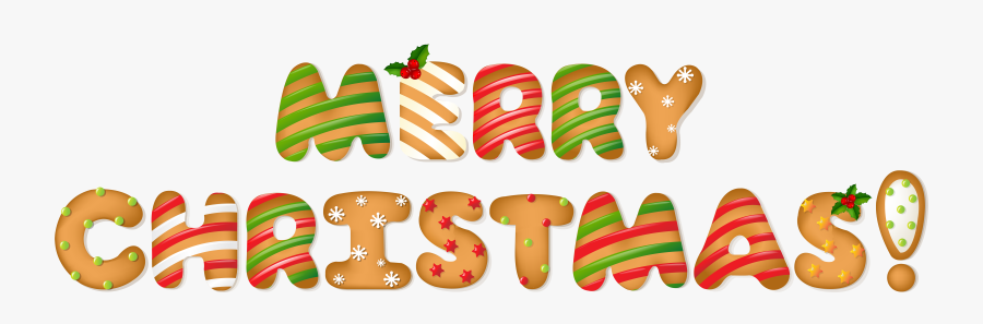 Style Cane House Candy Merry Gingerbread Christmas - Merry Christmas Word Clipart, Transparent Clipart