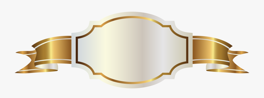 Banner Png White - Gold Ribbon Banner Png, Transparent Clipart