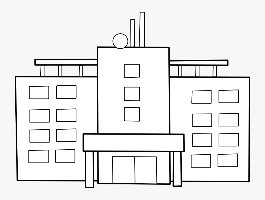 Hospital / Hopital - Hospital Building White Png, Transparent Clipart