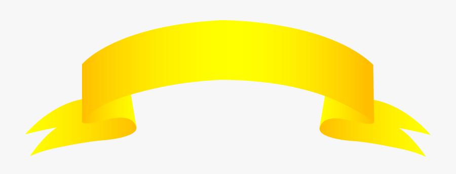Banner Gold Clip Art - Yellow Gold Ribbon Cartoon, Transparent Clipart