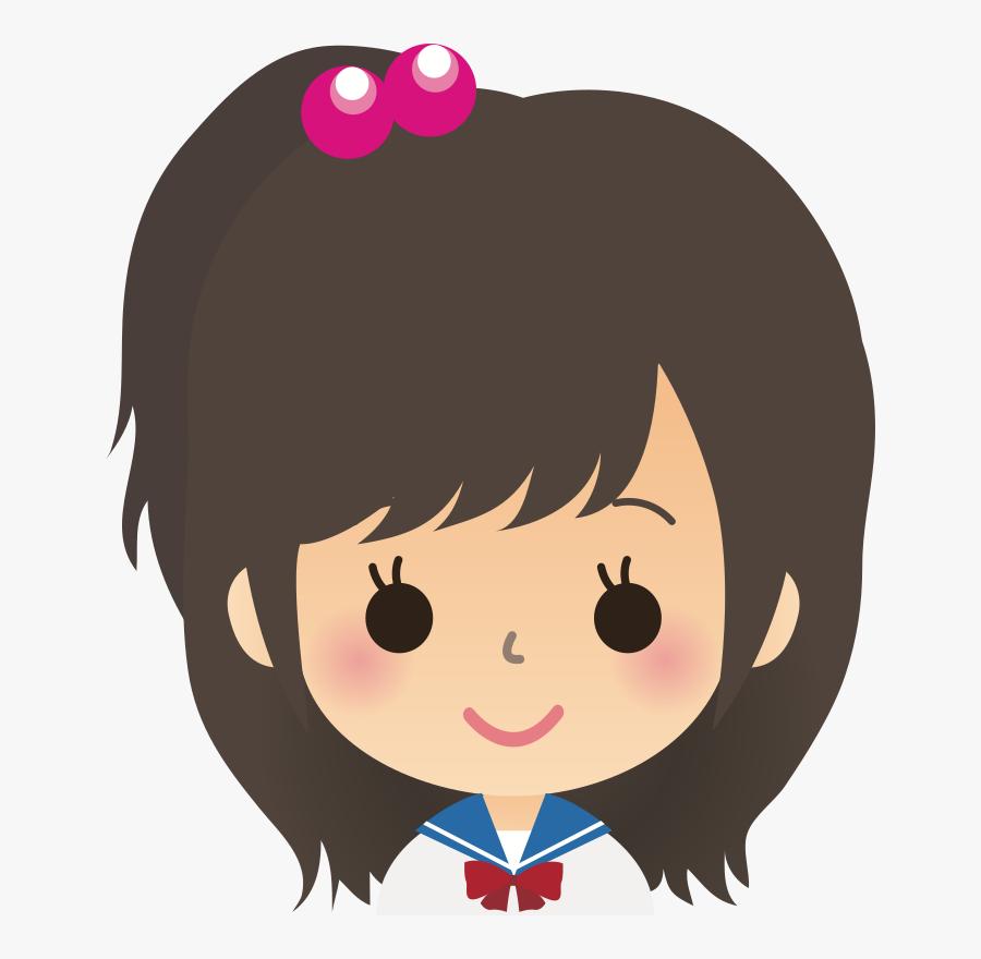 School Girl Face Clipart, Transparent Clipart