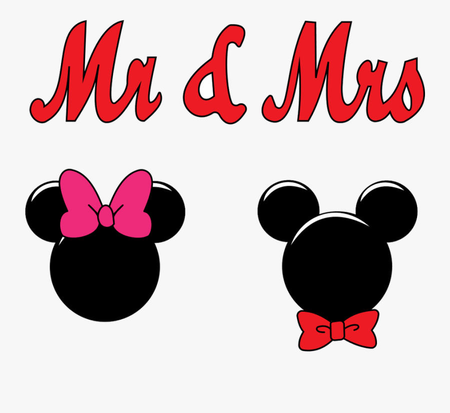 Mickey And Minnie Bows, Transparent Clipart
