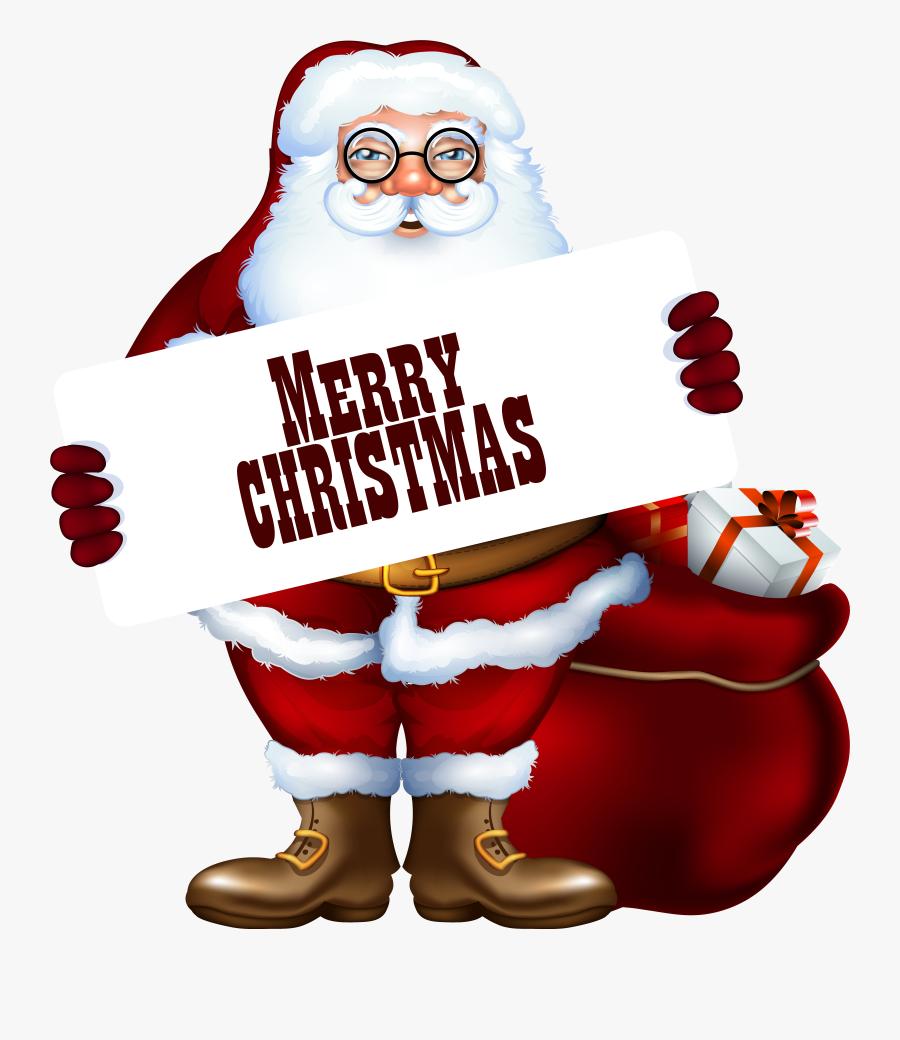 Merry Christmas Santa Clipart, Transparent Clipart