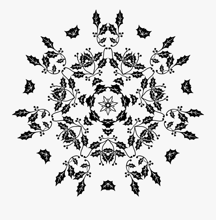Line Clipart Holly - Illustration, Transparent Clipart