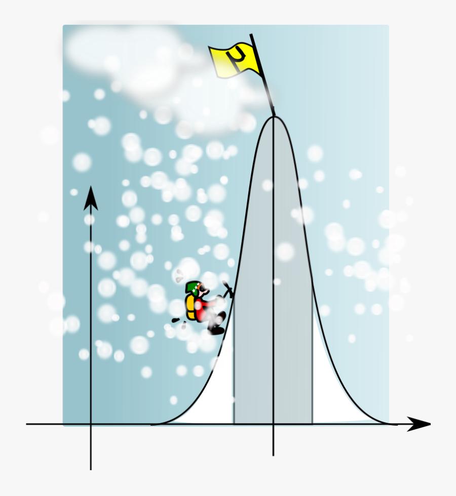 Climbing The Gaussian Mountain - Free Mountain Climbing Clipart, Transparent Clipart