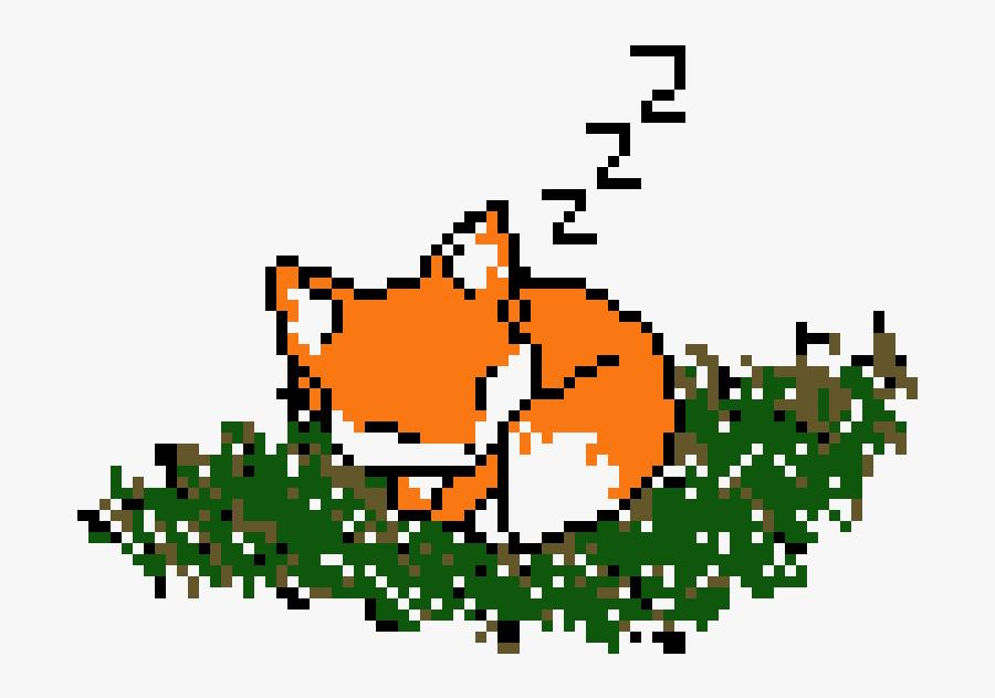 Transparent Baby Fox Png - Cute Fox Pixel Art, Transparent Clipart