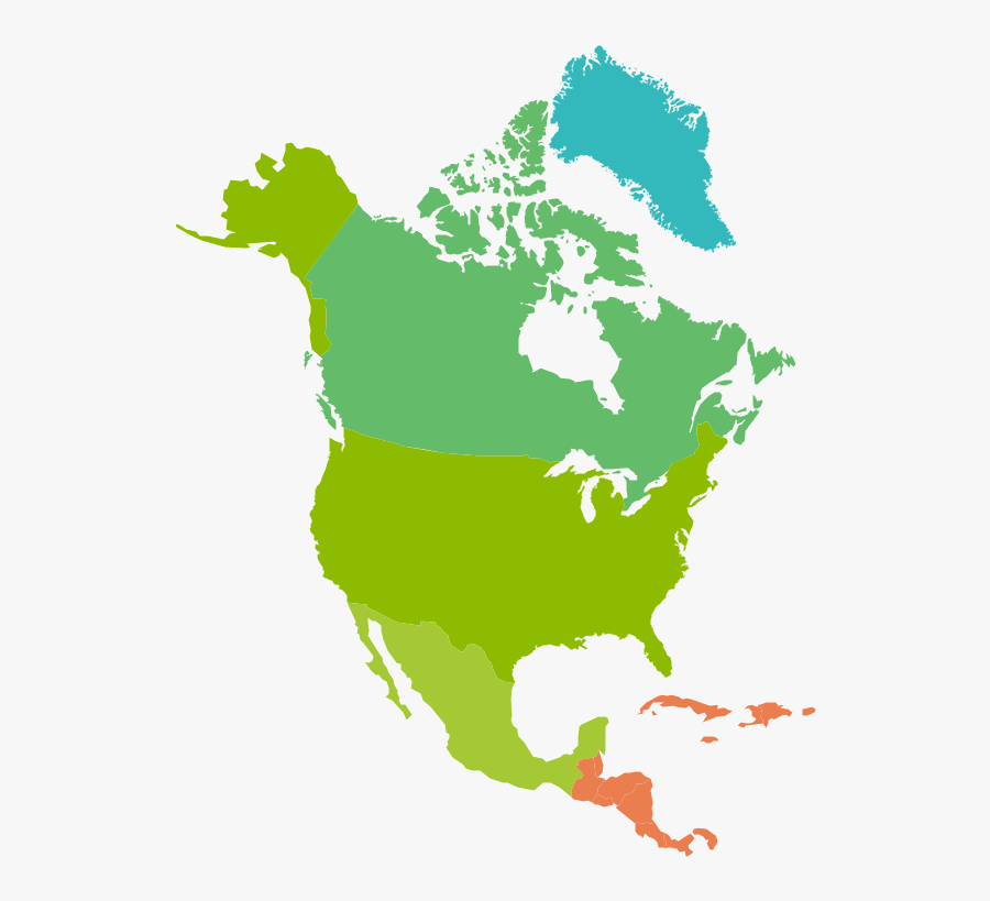 North America Map Free Png Image - High Resolution North America Map, Transparent Clipart
