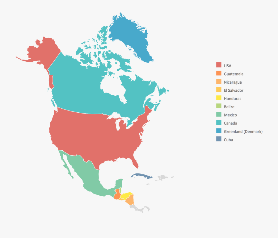 North America Map - High Resolution North America Map, Transparent Clipart