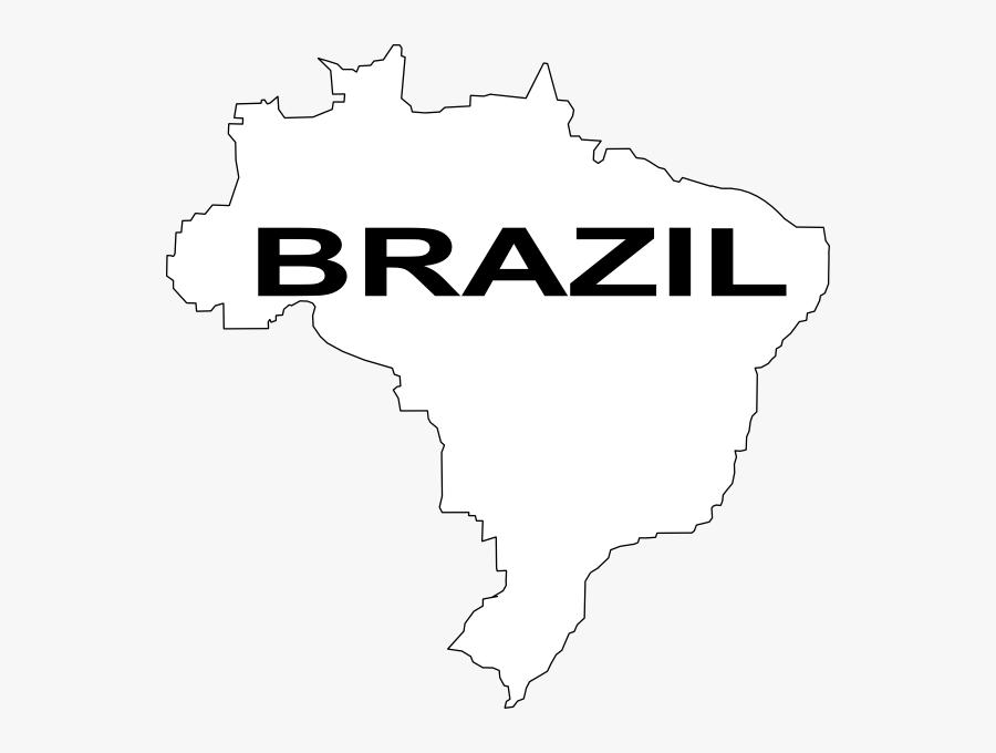 Transparent Brazil Clipart - Brazil Map Outline Png, Transparent Clipart