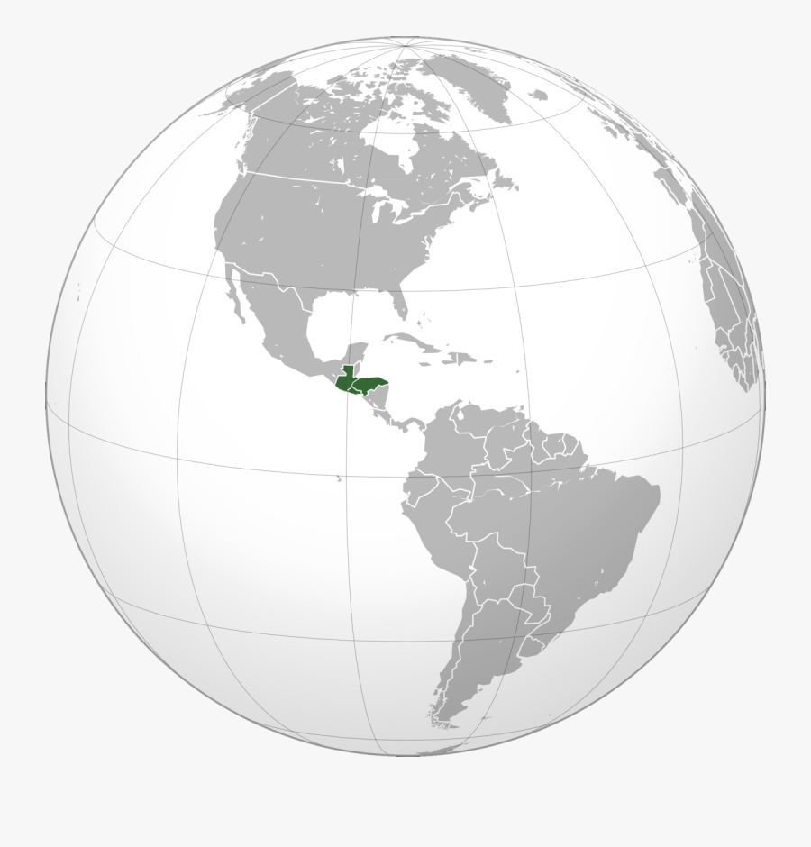 Central America Map, Transparent Clipart