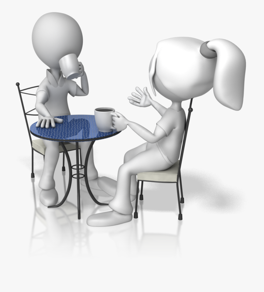 Talking Stick Figures - Two People Talking Animation, Transparent Clipart