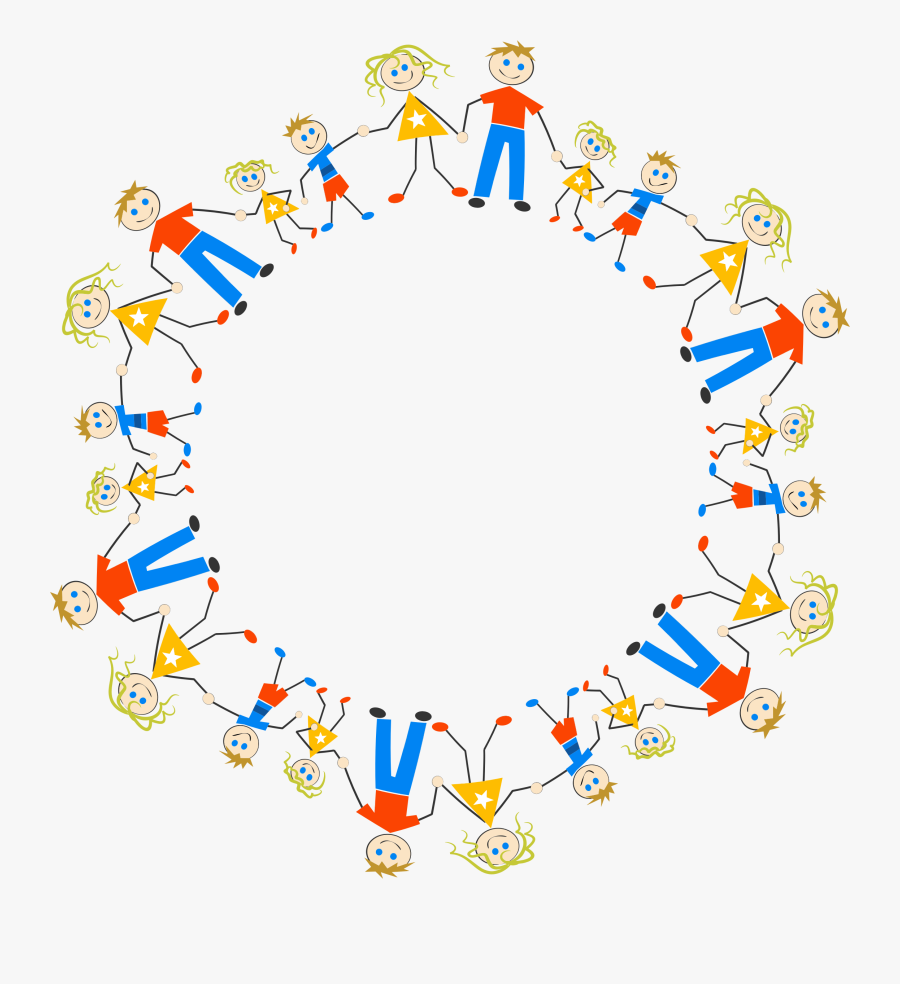 Stick Figure Circle Family Drawing Cc0 - Stick Figures In A Circle, Transparent Clipart